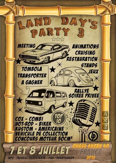LAND DAY'S PARTY 3,,,juillet 7 et 8 Affiche2012fb-1--32bba00